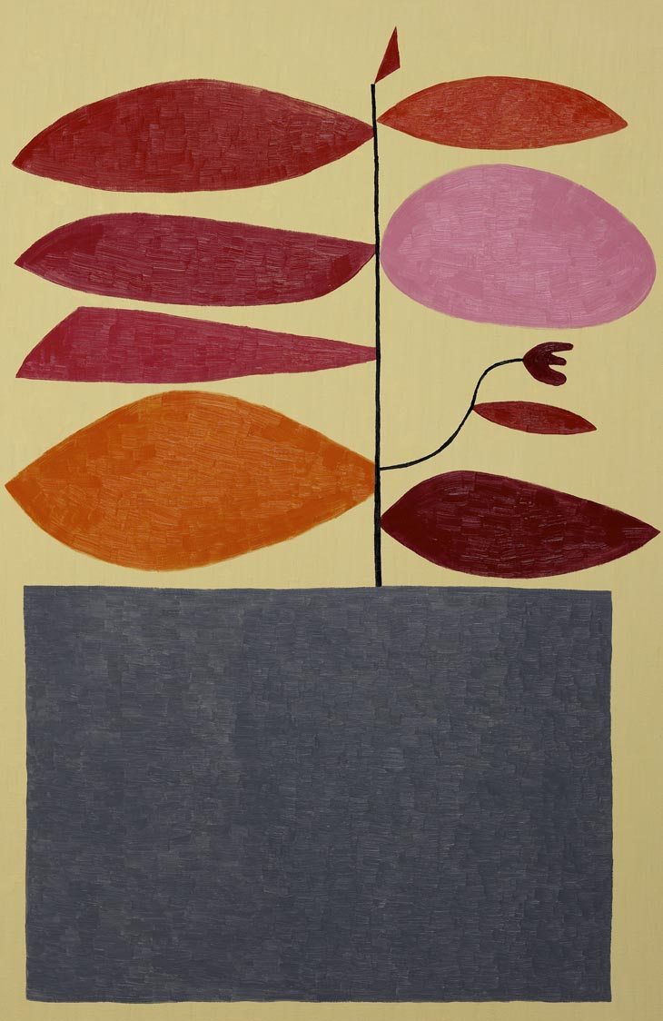 Untitled (Red And Pink On Tan)