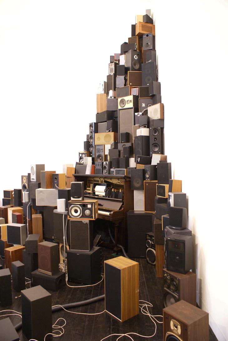 Installation for 300 speakers, Pianola and vacuum cleaner