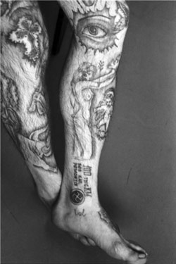 Russian Criminal Tattoo Encyclopaedia Print No.19