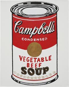 Not Warhol (Campbell's Soup Can, Chicken Gumbo Soup, 1962),1984-1986