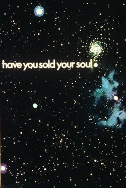 Posters advertising 'We Buy and Sell Souls'